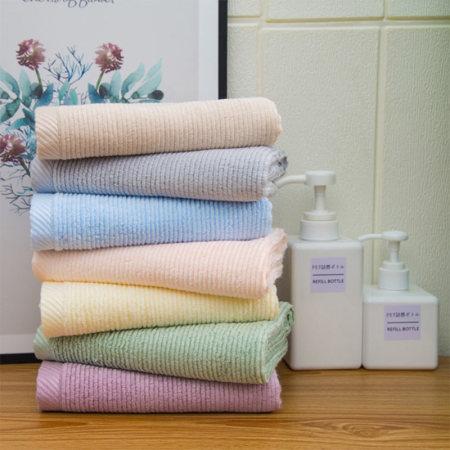 可欣亲肤竹纤维毛巾套装·5条毛巾+5条方巾