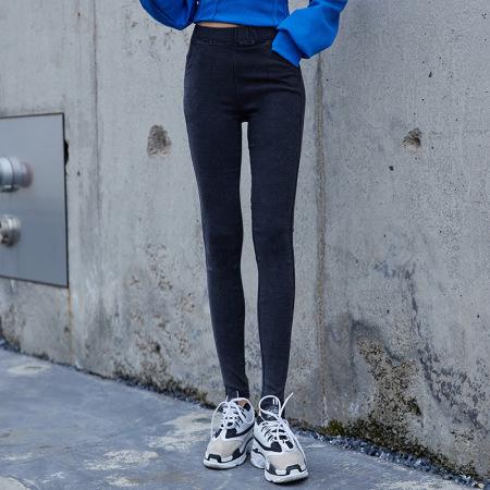 北极绒女士打底外穿经典小黑裤OJY20K36Y·雪花黑