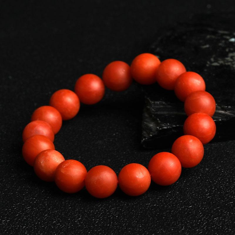 老冯记精选南红单圈手链珠径约13.5mm(保山料)