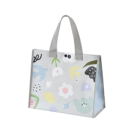 飞兔大容量防水可折叠环保购物袋手提袋(大号+小号)2个装·清晨花园(大号+小号)