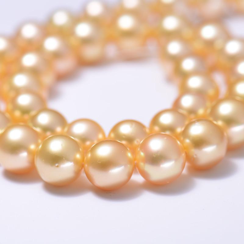 岛上明珠 大溪地孔雀绿项链·金珍珠