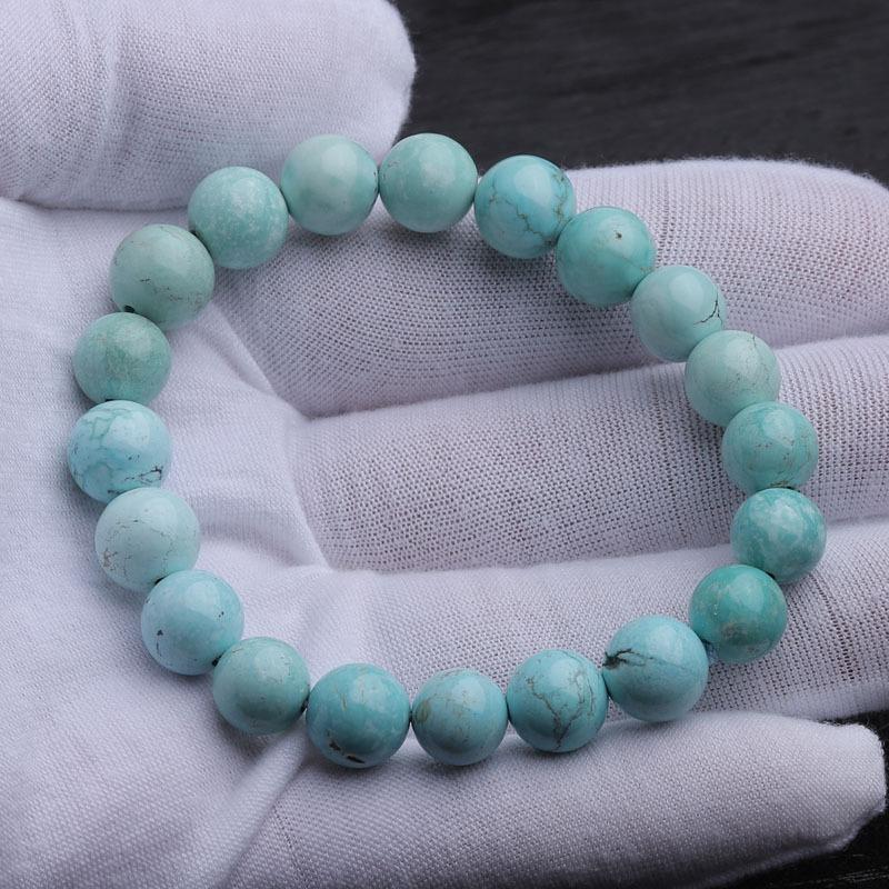 (超值)老冯记天然原矿绿松石高瓷手链C