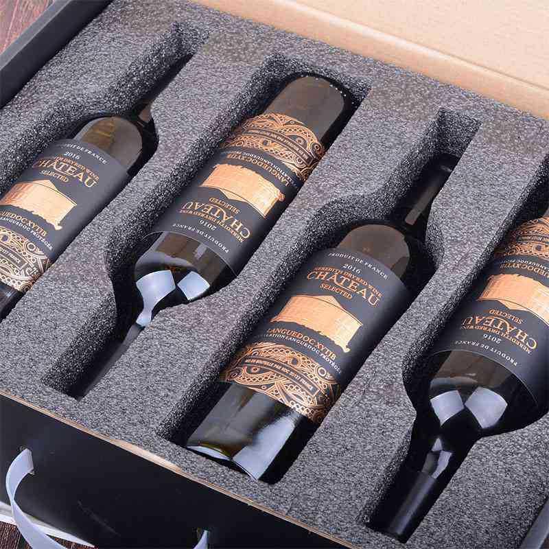 【手提礼盒】米致城堡法国AOC进口红酒礼盒装干红葡萄酒整箱四支