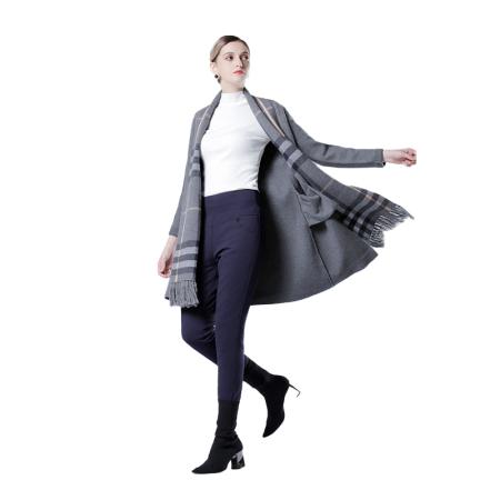 英国JANCYBONY女士高腰提臀羽绒裤·藏青