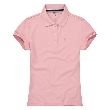 沃丽蔓 品质刺绣POLO半袖上衣·虾粉色