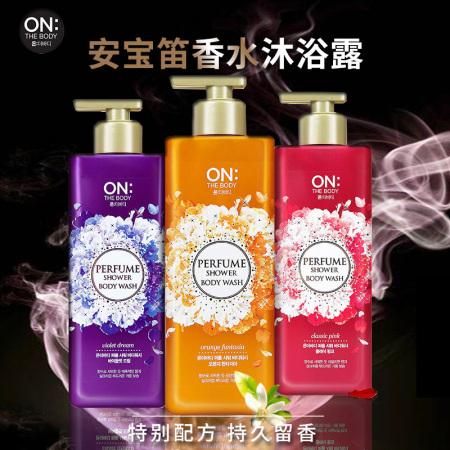 安宝笛 LG韩国进口香水沐浴露套装3种香型3瓶*500ML