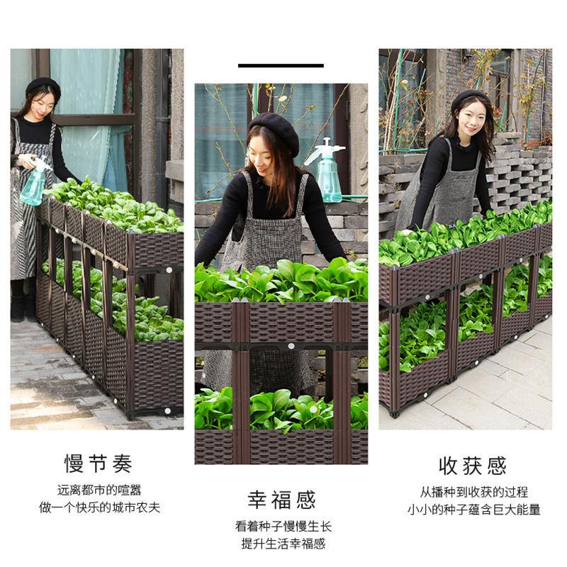 吉优百 阳台蔬菜种植箱·咖色