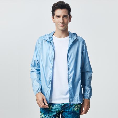 玉露浓 UPF50防晒皮肤衣(男女可选)·男款蓝色