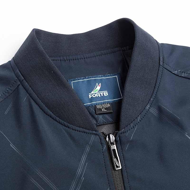 意大利富铤 2019早春休闲夹克男士外套--5色可选·条纹藏青色