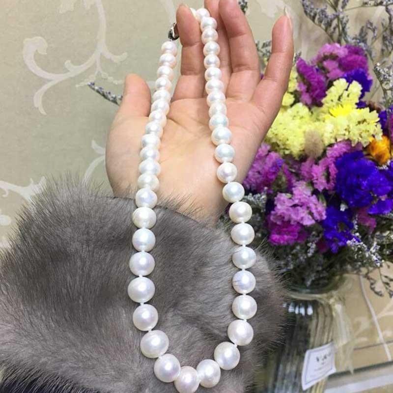 喜善喜S925银扣天然淡水珍珠项链