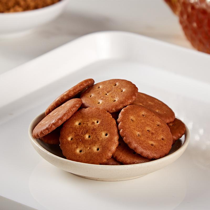 暖小糖台湾原产黑糖饼干欢享组340g*6盒