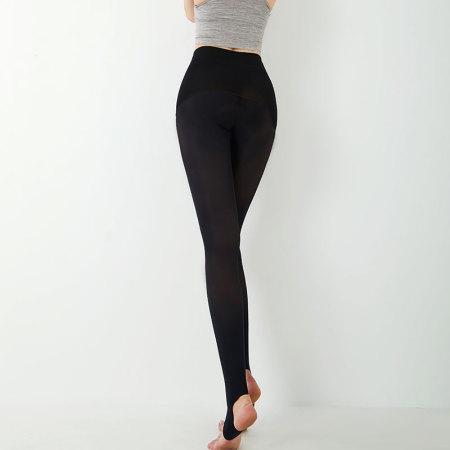 法国皮尔卡丹【2双】380D苹果臀压力踩跟裤袜-PC37013B·黑色踩跟裤