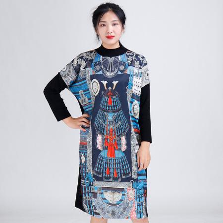 金典娜超奢款连衣裙·蓝花
