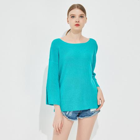 Jane Eyre 圆领长袖针织衫(JE5639)·蓝绿色