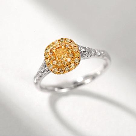 阖天下传家宝 18K金黄钻戒指J171059001·白色