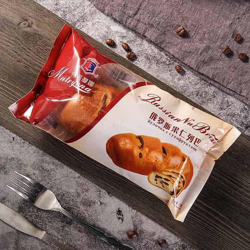 俄罗斯大列巴面包 手撕切片 老式全麦果仁夹心糕点230G*3袋