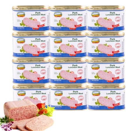 丹麦原装进口绿山农场午餐肉罐头·198克*12罐