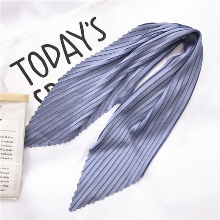 香港直邮 皱褶菱形纯色丝巾·蓝色