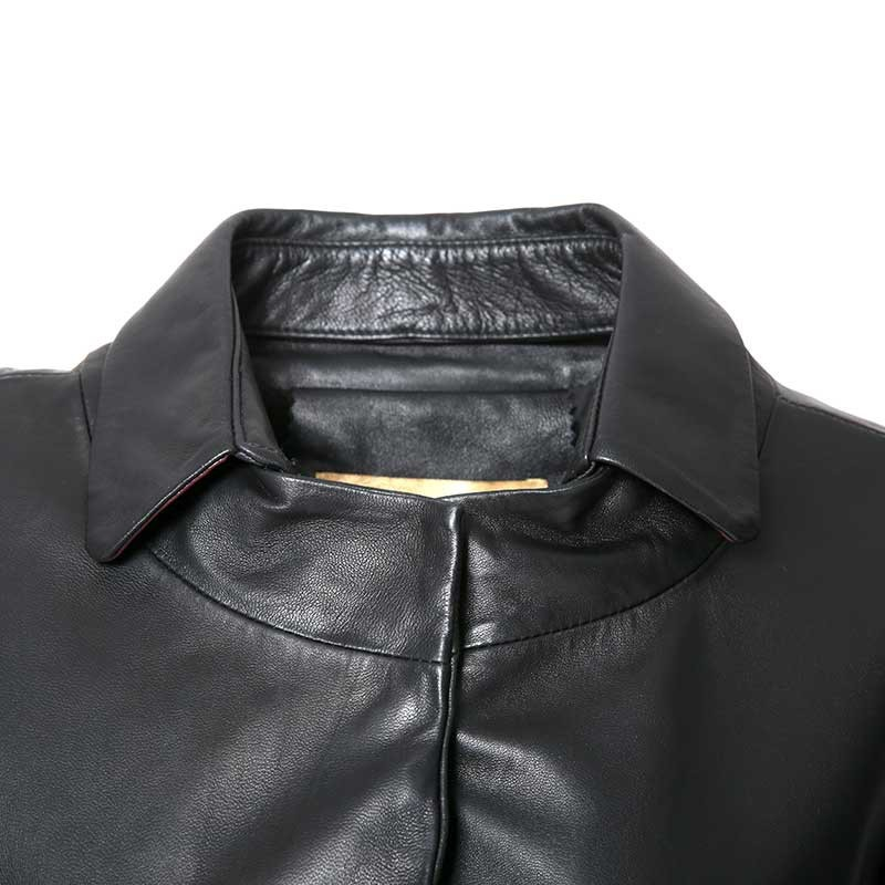 恺瑞 澳洲绵羊皮女士皮衣·黑色  黑色  黑色