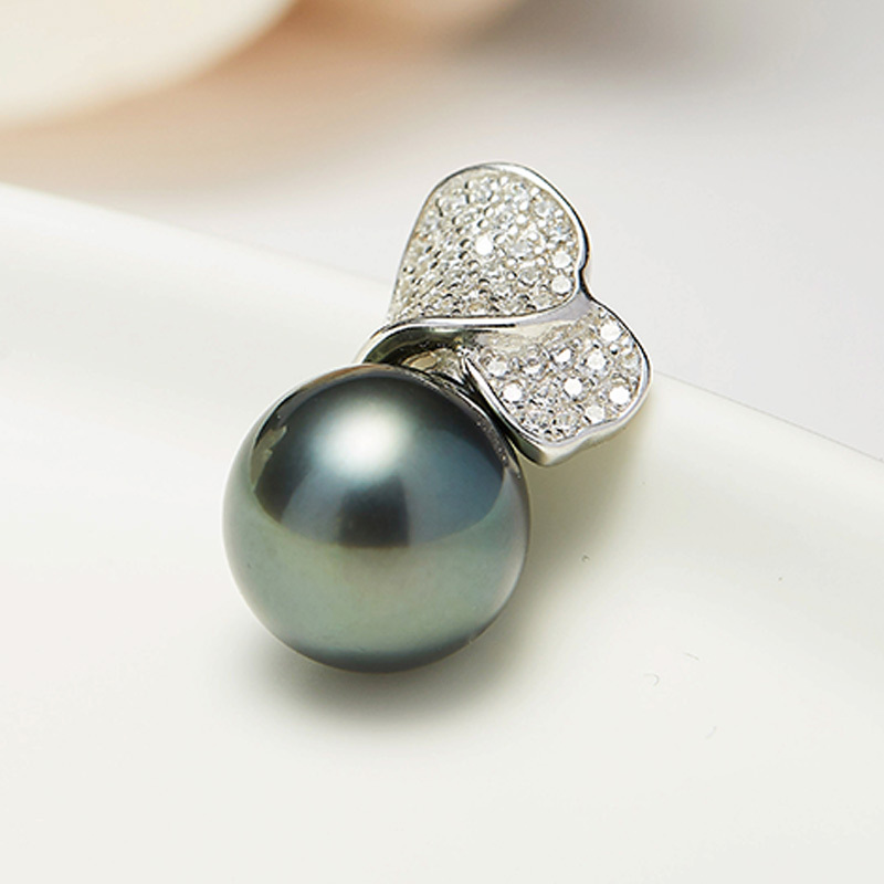 京珠部落新年特供款S925银珍珠吊坠  黑珍珠明星款