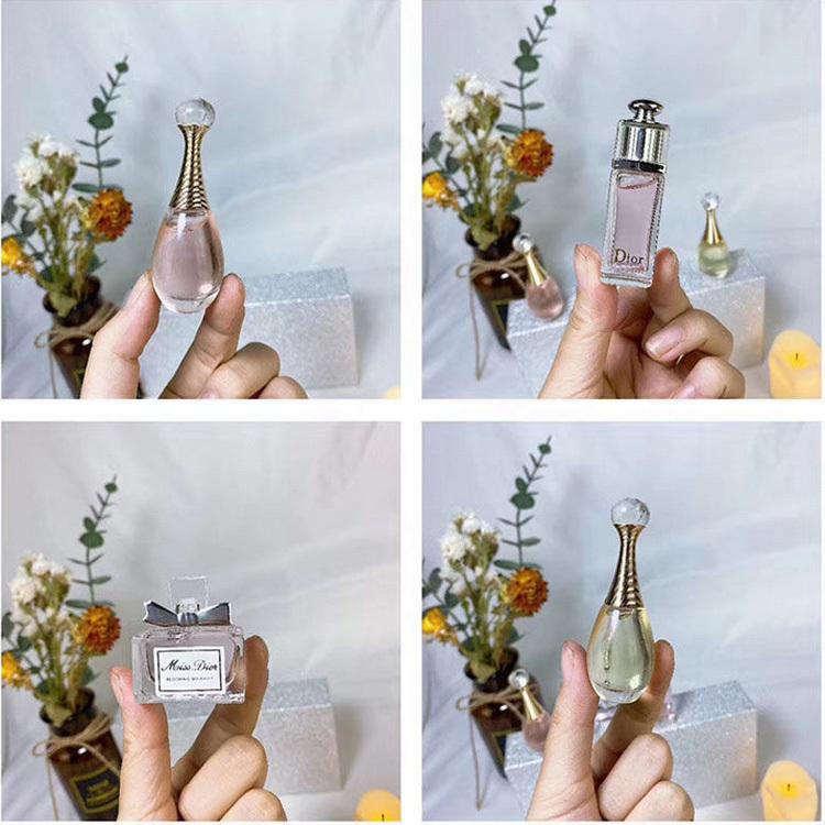 Dior迪奥香水淡香Q版3件套(粉红魅惑5ml+真我淡香5ml+花漾甜心5ml)