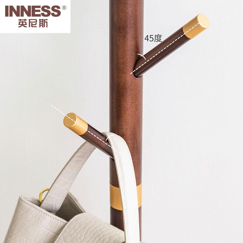 英尼斯(INNESS)实木镀铜树形衣帽架·OAK