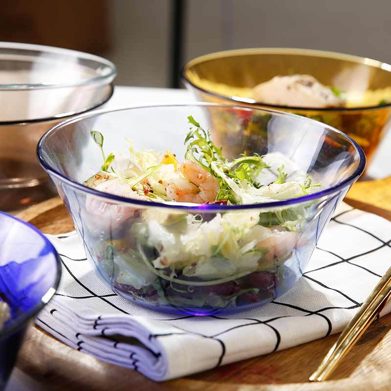 多莱斯(DURALEX)欧式浅蓝色大号汤碗 沙拉碗 水果碗 单只装2200ml·浅蓝色