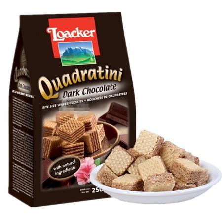 莱家威化饼干125g*6袋装 多口味可选·黑巧克力味*6