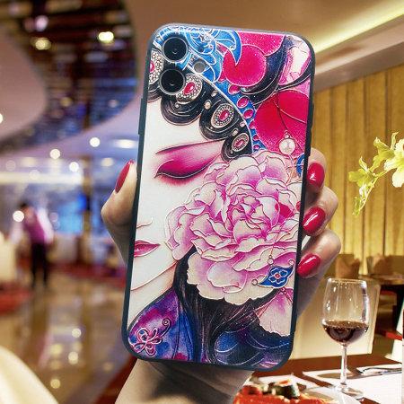 国潮中国风浮雕软壳手机壳 WH20200610·戏子半脸