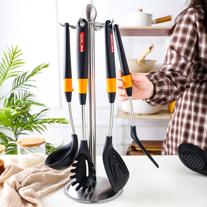 WUC全新硅胶套装厨具耐高温炒菜锅铲家用不粘锅专用铲子套装6件套