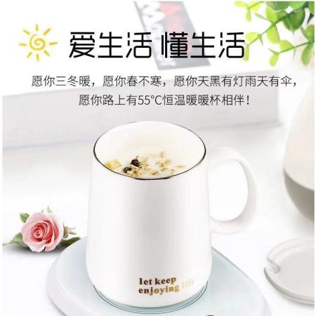 暖暖杯55°恒温杯 加热保温杯 买一送一(同款)·白色