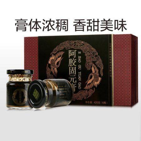 东阿阿胶 阿胶固元膏70g*6瓶礼盒(420g) 即食阿胶膏