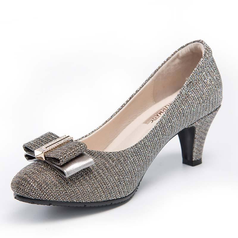 诺曼地星沙漫舞机能高跟鞋·香槟金