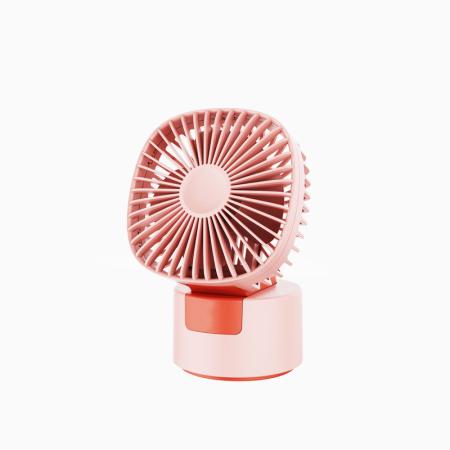 HIPEEFALL折叠便携式usb充电静音桌面自动摇头小风扇·粉色