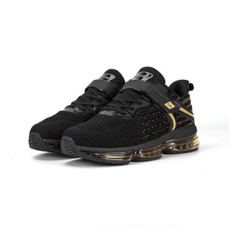 AIRBREATHE3D飞织Helix(螺纹)气垫男鞋·黑金色