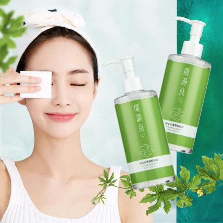 台湾广源良丝瓜水清爽卸妆液300mlx2