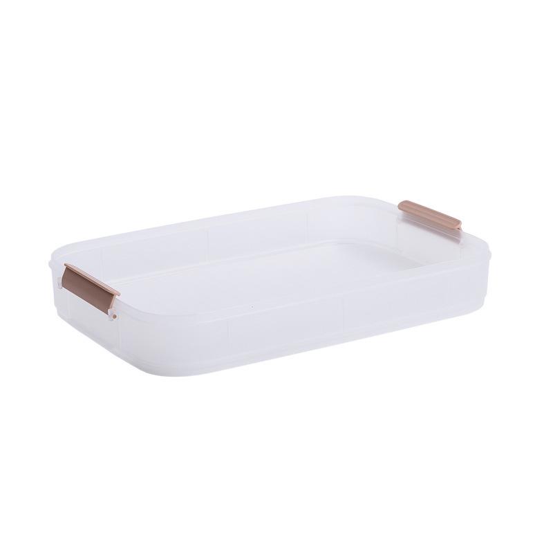 君达莱 手提饺子盒保鲜收纳盒托盘可叠加·灰白无盖