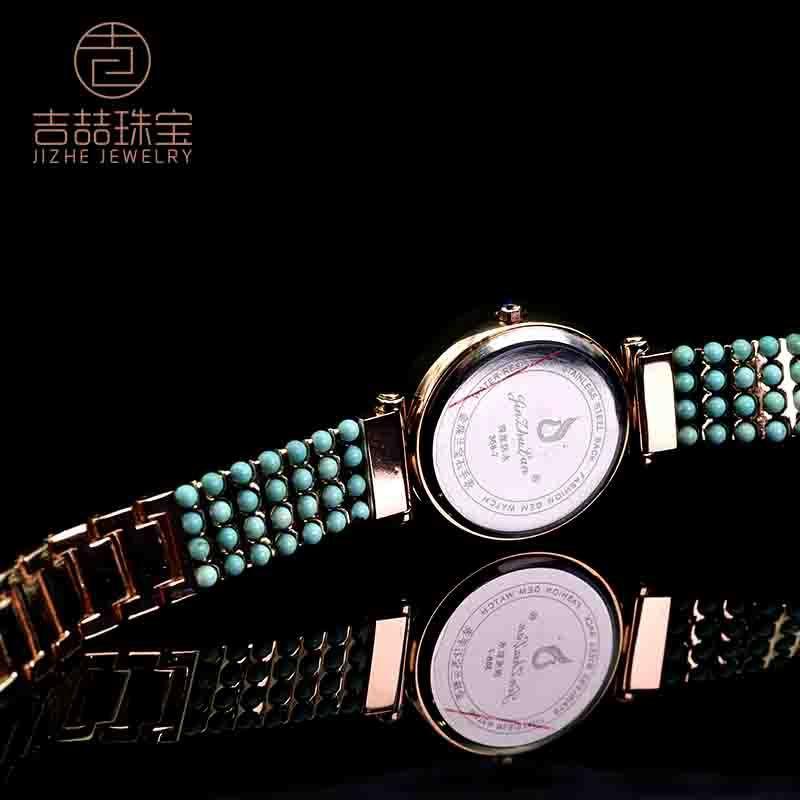 吉喆 高定款 原矿绿松石手表臻爱之选·心中有你