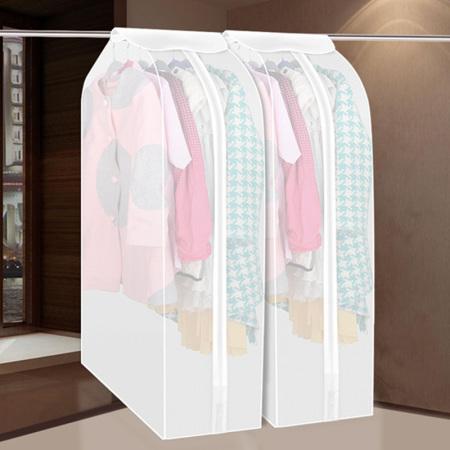 [JM]防尘防潮立体衣物收纳整理罩(大号-白色)3个装