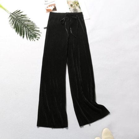 纸片人阔腿裤·黑色