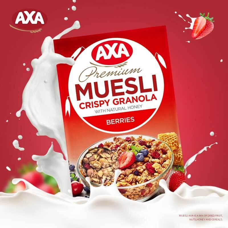 瑞典进口 AXA浆果即食什锦麦片MUESLI 270g