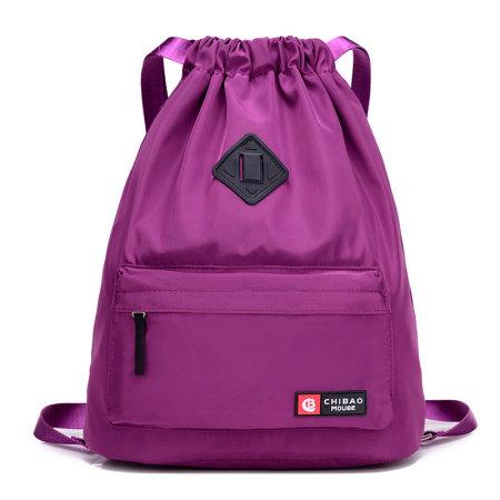 尼龙防水抽绳旅行收纳斜跨双肩2用包 · 一包多用! 出行便捷! 小身材大容量! ·紫色