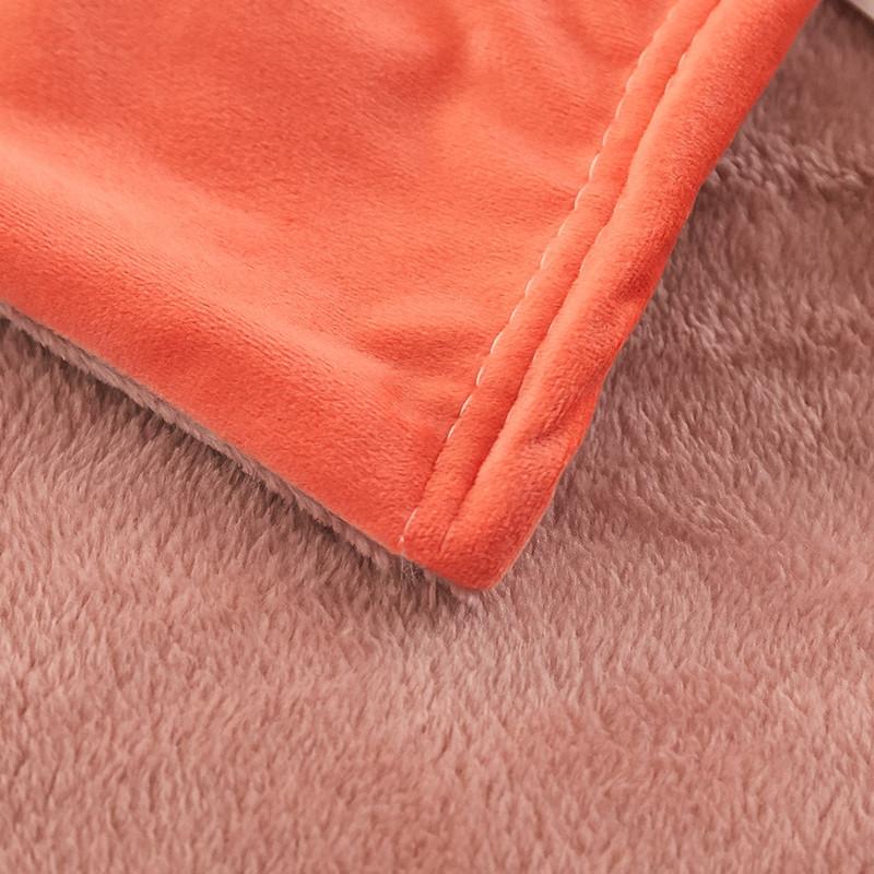 一梦撞色亲肤绒盖毯2*2.3m·豆沙