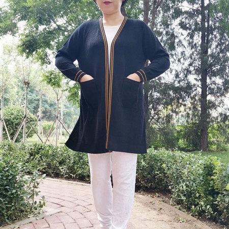 恒源祥集团Fazeya纯天丝女士针织空调长款开衫90076·QJ-90076克色