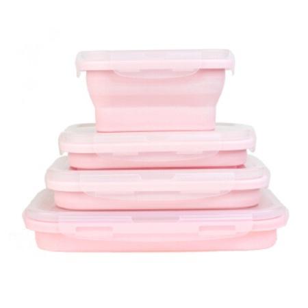 食品级硅胶便当盒饭盒 微波炉可折叠方便携带上班午餐郊游 保鲜袋收纳盒保鲜盒辅食  共同