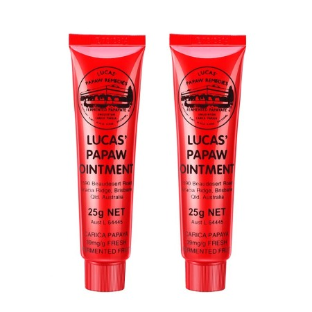 平价爆款唇膏大集合·澳洲lucas papaw番木瓜膏25g*2