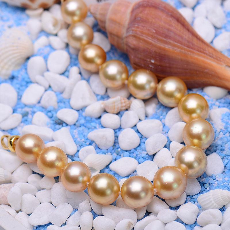 岛上明珠 南洋金珠手链9-11mm·金色