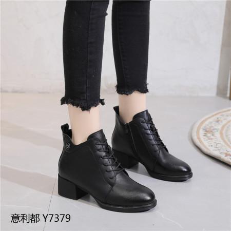 意利都新品靴子·7379·胎牛黑