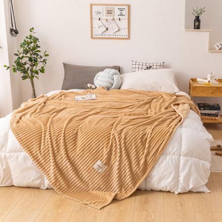 凯特之家牛奶绒毛毯·卡其驼