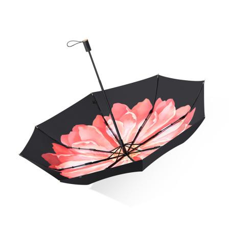 蕉下双层小黑伞系列三折伞(双层伞布 科技涂层 晴雨两用 )·石楠